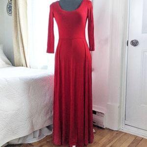 Calvin Klein knit maxi red dress